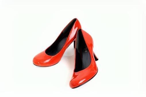 Orange's high heels