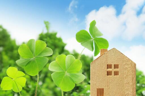 Four-leaf clover and building blocks