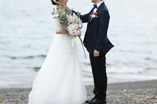 沙灘婚紗照