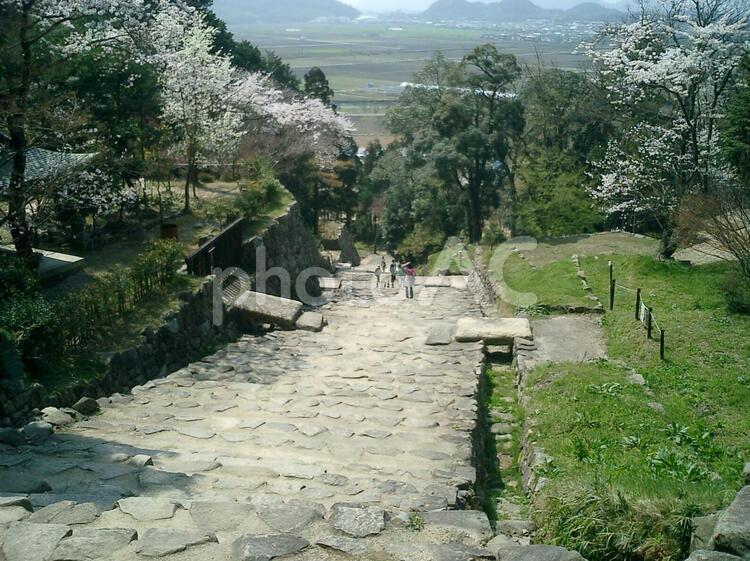 安土城大手道石段の写真