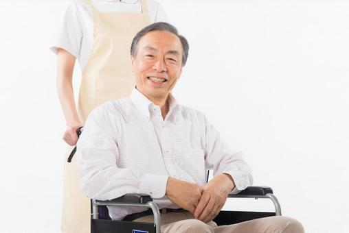 Men on a wheelchair 1