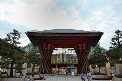 가나자와 역 (공통 대접 돔) 겐로쿠엔 입
