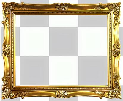 [Cutout PSD] Antique gold frame 8