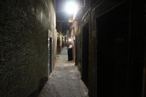 Marrakech night road