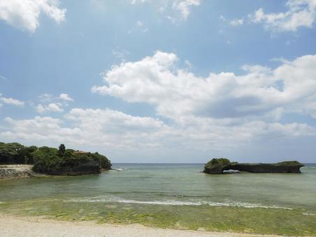 渡具知 비치 _ 泊城 공원 (오키나와 현 요 미탄 촌 渡具知)