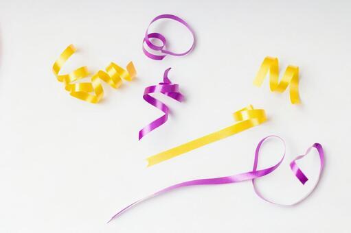 黄色和紫色丝带