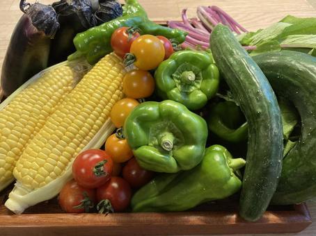 Assorted vegetables colorful summer vegetables