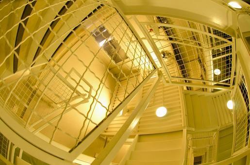 하얀 나선형 계단 1