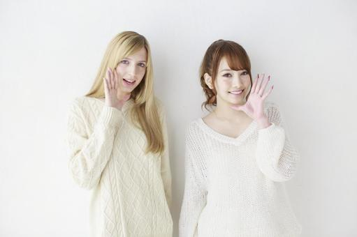 Female friend Foreigner and Japanese 25