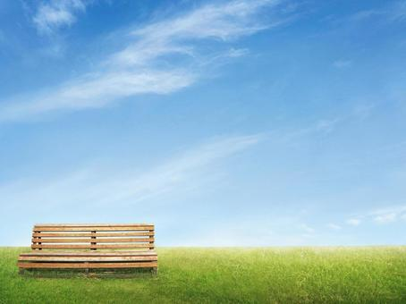 Bench and blue sky