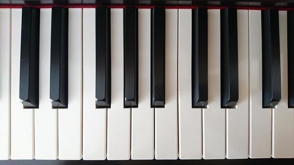 위에서 본 피아노의 건반