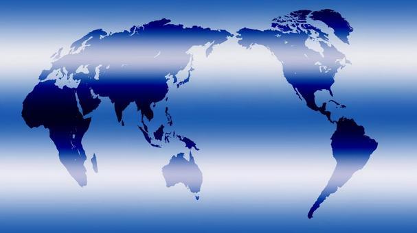 World map (blue gradation)