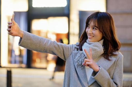 OL taking a selfie