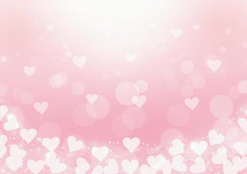 Heart full background pink