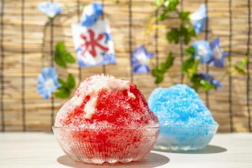 刨冰草莓藍夏威夷夏季形象