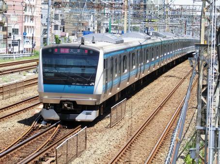 게이 힌 도호쿠 선 전철 (東神奈川 - 요코하마 간)