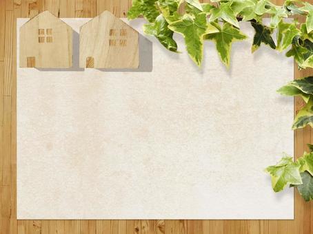 木材,房子,纸和绿色