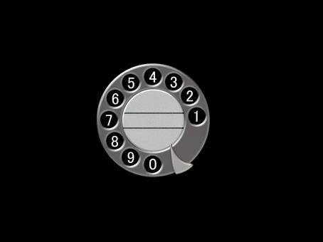 Nostalgic phone dial background black