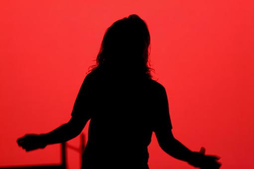 Musical stage silhouette