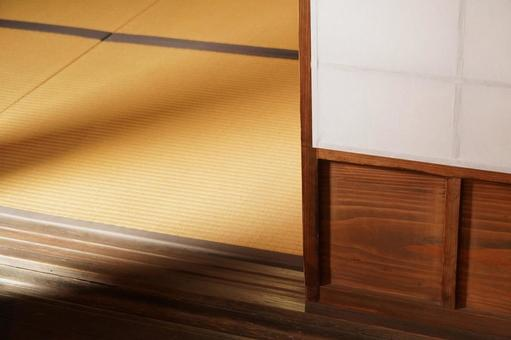 Steps in Japanese-style room