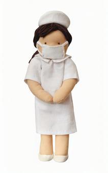 Nurse doll (psd background transparent)