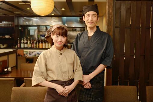 Izakaya male and female staff 11