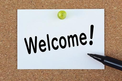 Welcome Welcome Welcome image material Bulletin board