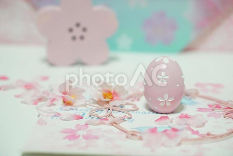 桜色のたまごの写真