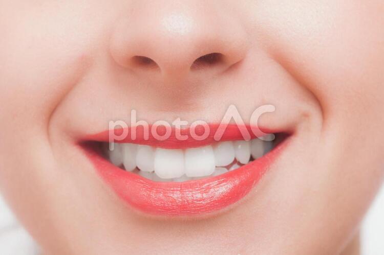 白人女性 顔パーツ口元26の写真