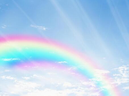 Blue sky and rainbow 16110602