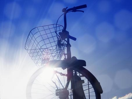Bicycle and sky