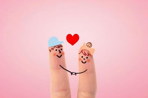 Cute finger couple 10