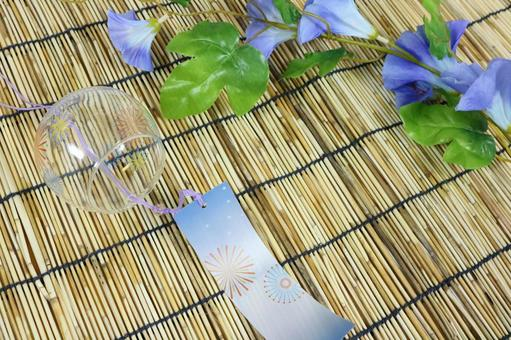 Wind chimes Asagao morning glory Door