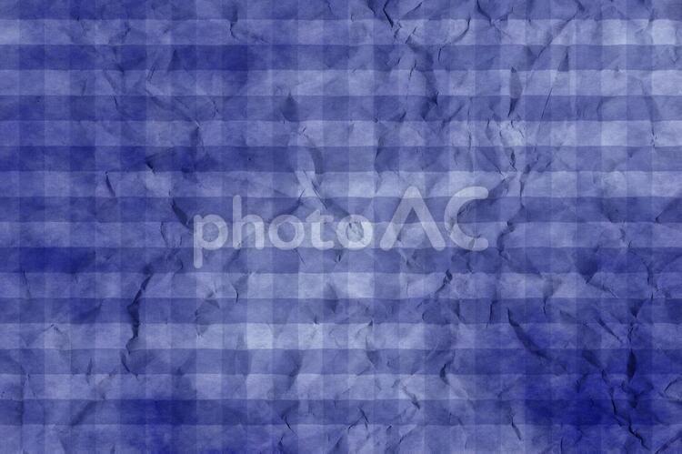 しわのある和紙 彩雲 ギンガムチェック柄 ちぢれ 凸凹 テクスチャ 43の写真