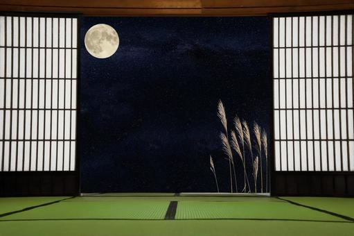 Japanese house and moon viewing