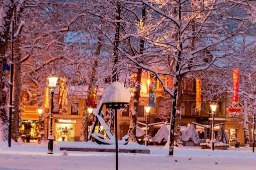 Winter night city 2