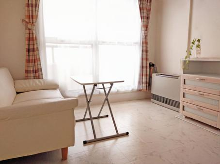 간단하고 작은 거실