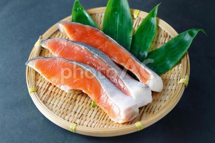 銀鮭切身の写真