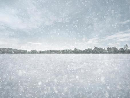 雪景冬季地面