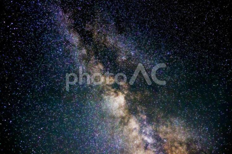 天の川のアップの写真