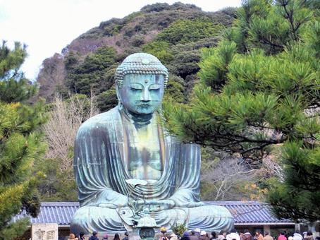 観光客で賑わう鎌倉の大仏