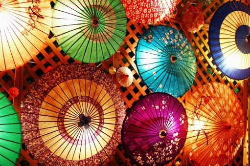And umbrella lantern
