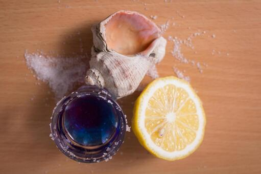 贝类和蓝色饮料3