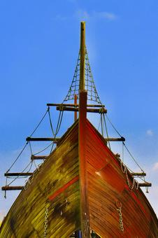 Pirate ship and summer sky