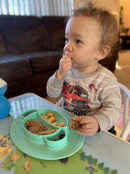 1歲的孩子搶吃