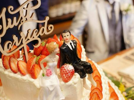 Wedding cake (two people with a smile)