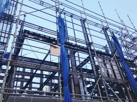 Apartment construction scaffolding 3
