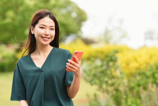 Young woman with a smartphone