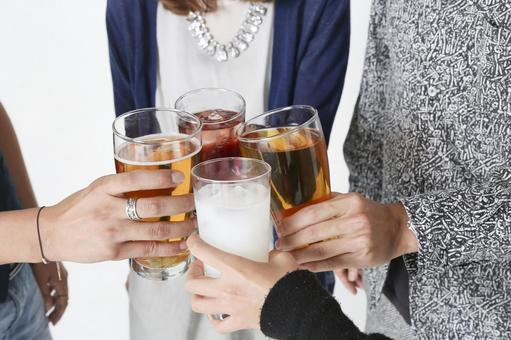 Young people enjoying parties Cheers 8