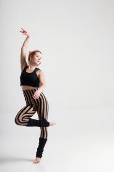 Jumping female dancer 7